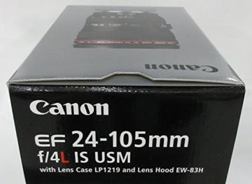 Canon EF 24-105 mm 1:4.0 L IS USM Objektiv (77 mm Filtergewinde, Original Handelsverpackung) -