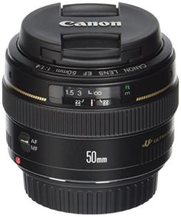 Canon EF 50mm 1:1.4 USM Objektiv (58 mm Filtergewinde) -