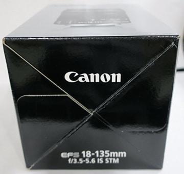 Canon EF-S 18-135mm 1:3.5-5.6 IS STM Zoomobjektiv (67mm Filtergewinde, mit STM-Technologie) schwarz -