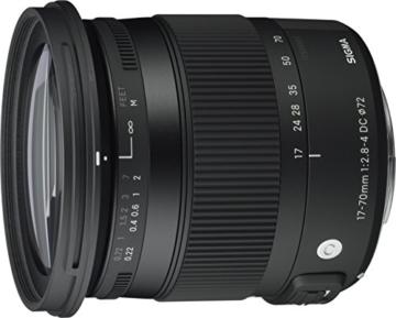 Sigma 17-70 mm f2,8-4,0 Objektiv (DC, Makro, OS, HSM, 72 mm Filtergewinde) für Canon Objektivbajonett -