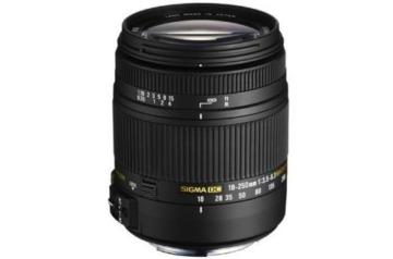 Sigma 18-250 mm F3,5-6,3 DC Macro OS HSM Objektiv (62 mm Filtergewinde) für Canon Objektivbajonett -