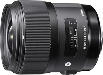 Sigma 35 mm f/1,4 DG HSM-Objektiv (67 mm Filtergewinde) für Canon Objektivbajonett -