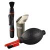 """Hama Foto Reinigungsset 3-teilig """"Optic Dry"""" (mit Lenspen Reinigungsstift, Mikrofaser-Reinigungstuch, Blasebalg mit Pinselaufsatz, Reinigung von Spiegelreflex Kameras, Objektiven, etc.) -"""