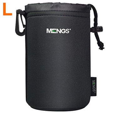 MENGS® High Grade schützenden Neopren Objektivtasche for - 4 Größe Multi Pack (S, M, L & XL) - Haken und Gürtelschlaufe -