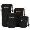TARION® Objektiv-Taschen Beutel Set 4 Größen Regenfest aus Neopren mit Karabinerhaken und Gürtelschlaufe -