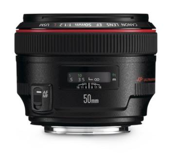 Canon EF 50mm/1:1,2 L USM Objektiv (72 mm Filtergewinde) -