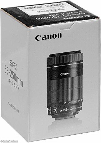 Canon EF-S 55-250mm 1:4-5.6 IS STM Tele-Zoomobjektiv (58 mm Filtergewinde) schwarz -