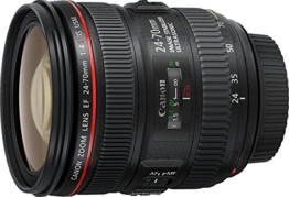 Canon Standardzoomobjektiv EF 24-70mm f/1:4L IS USM (77mm Filtergewinde) schwarz - 1