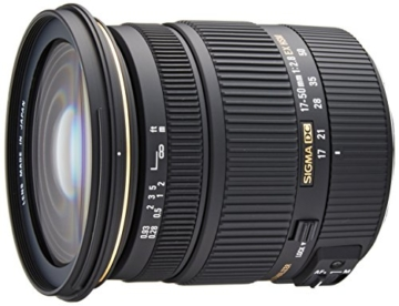 Sigma 17-50 mm F2,8 EX DC OS HSM-Objektiv (77 mm Filtergewinde, für Canon Objektivbajonett) - 1